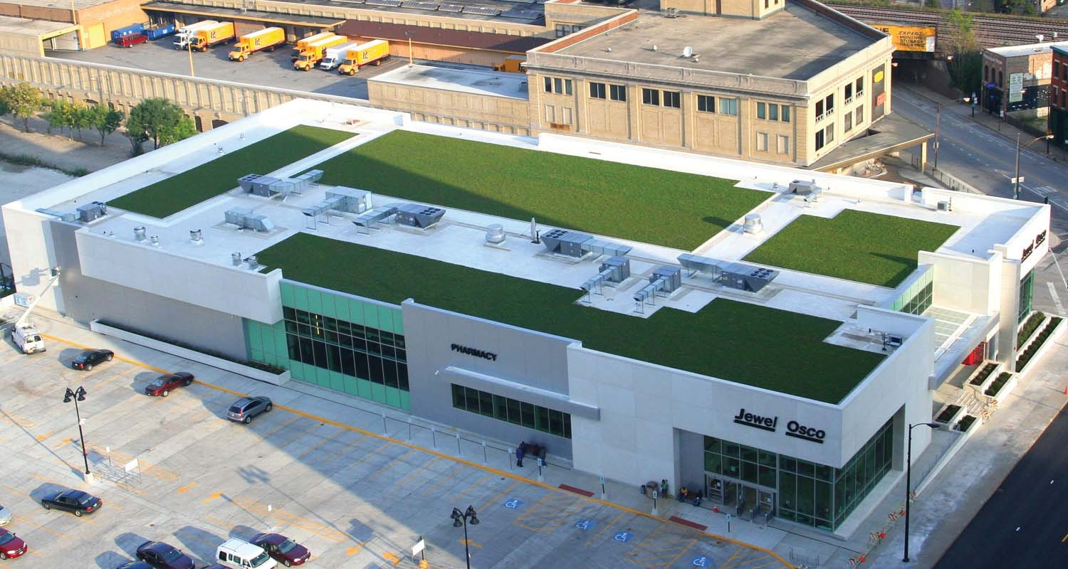 Chicago Jewel Osco Green Roof by LiveRoof